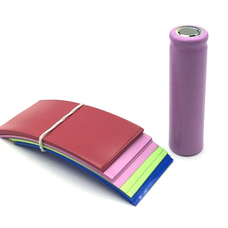 100 Uds 77*33mm PVC Film retráctil ajuste 20700 manga de la batería tubo de calor envoltura envío gratis
