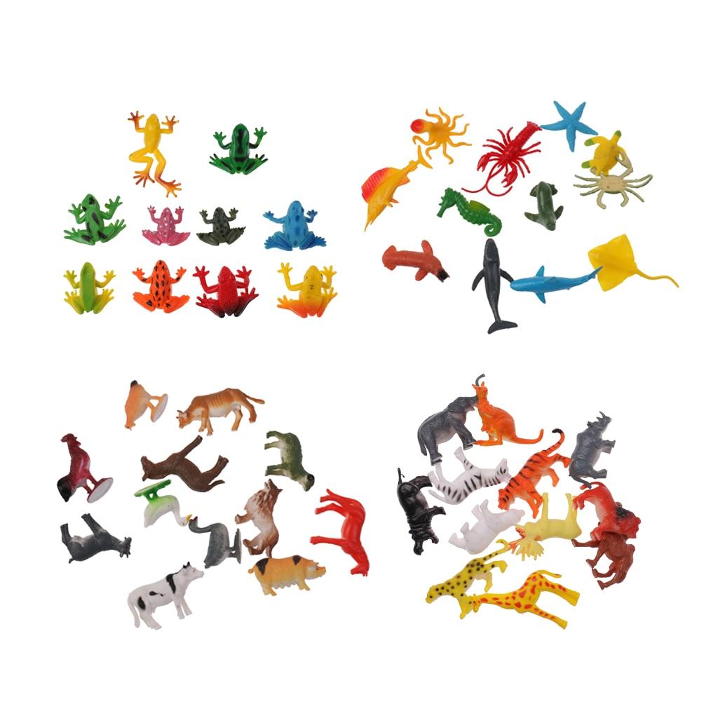 46 pacote plastico selvagem fazenda animais insetos modelo figuras de acao festa saco enchimentos