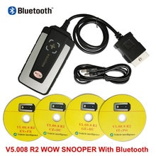 For WOW SN00PER V5.008 R2 Software Automotive Diagnostic tool For Cars and Trucks with Bluetooth obd