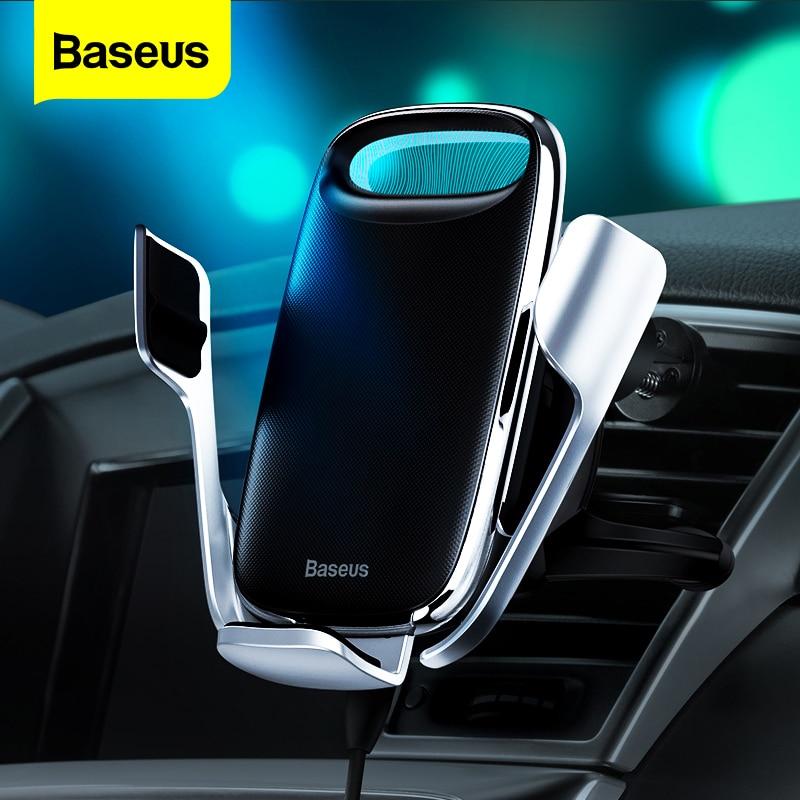 Baseus-شاحن سيارة لاسلكي Qi ، لهاتف iPhone 11 Pro Max 15W ، حامل شحن سريع ، متوافق مع Xiaomi Redmi Note 8 Pro