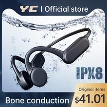 YC Swimming Headphone Bone Conduction Earphone Wireless Bluetooth Headset ipx8 Waterproof 8GB MP3 Pl