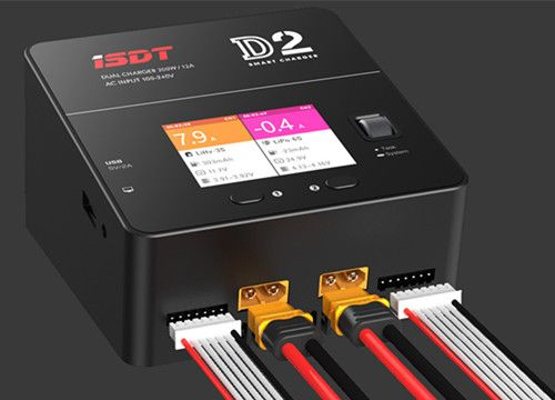 ISDT D2 200W 20A racing rc charger Smart Battery Balance Charger UAV Drone enlarge