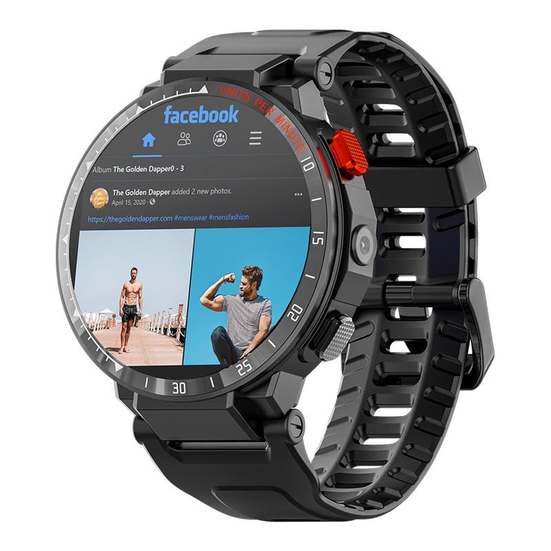 Carkira 4G ساعة رقمية أندرويد 7.1 نظام تحديد المواقع واي فاي مكالمة هاتفية للرجال 1.6 بوصة شاشة تعمل باللمس الكامل ساعة الكاميرا فيديو مراقب معدل ضر...