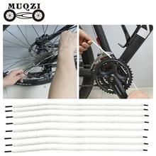 MUQZI Of Portable Bike Clean Lines  Cycling flywheel Guide wheel Chain Cleaning line 8PCS reusable