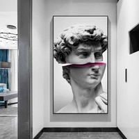 abstract sculpture art of david vaporwave canvas posters and prints funny david canvas paintings modern wall art pictures