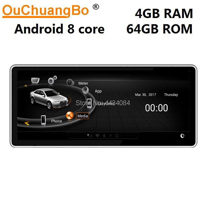 Ouchuangbo радио gps навигация Мультимедиа для Q5 A5 RS5 A4 b8 S4 S5 RHD с 8 ядрами 4 Гб + 64 ГБ android 9,0 бесплатная карта