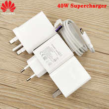 Зарядное устройство Huawei, 40 Вт, 10 в, 4 а, ЕС/США/Великобритания, быстрая зарядка, адаптер 5 А, кабель USB Type-C для Mate 30 20 P40 P30 Pro Honor V20 V30
