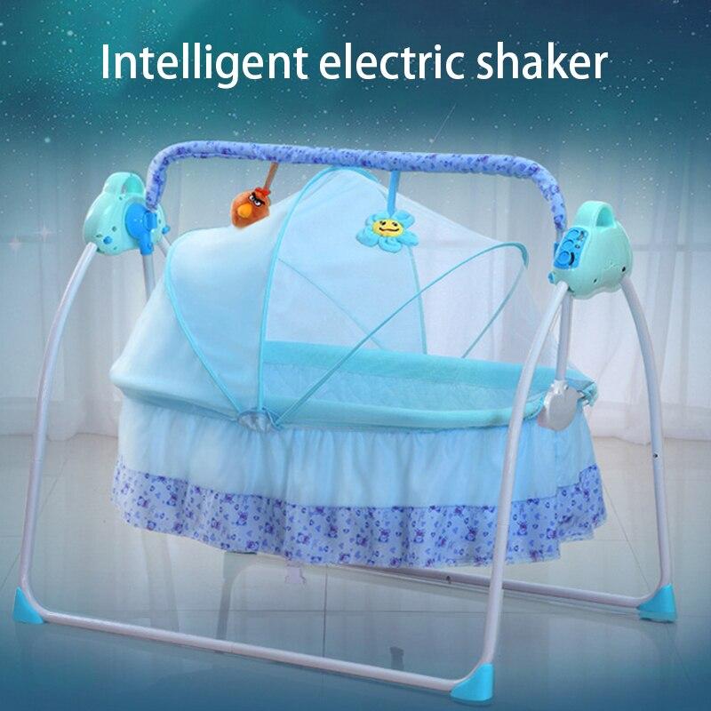Baby Smart Electric Cradle Rocking Bed Rocking Chair Newborn Smart Sleep Comfort Foldable Home Baby Cradle Bed Baby Swing Cradle