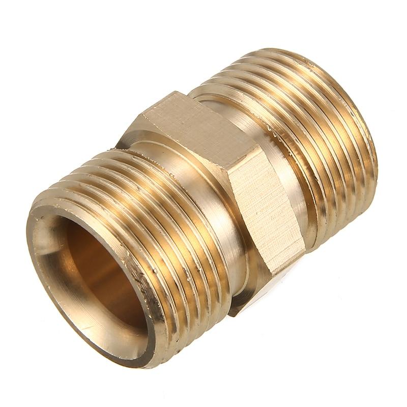 M22/14mm macho a adaptador de la lavadora a presión de la bomba de manguera de salida adaptador de latón de agua de jardín conectores