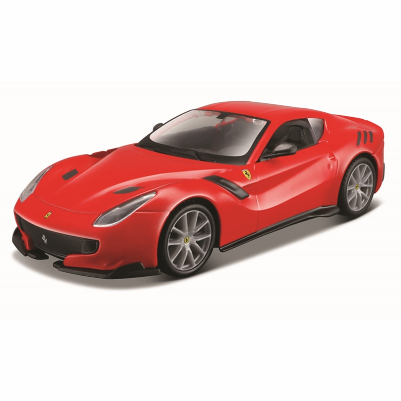 Bburago 1:32 Scale Ferrari F12tdf acrylic box Alloy Luxury Vehicle Diecast Cars Model Toy Collection Gift 2pcs clear acrylic display show case box perspex dustproof protection for figure diecast vehicle doll model figurine collection