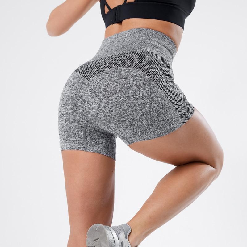 Running Seamless Shorts Women Push Up High Waist Fitness Short Female Slim Workout Dropship 2020