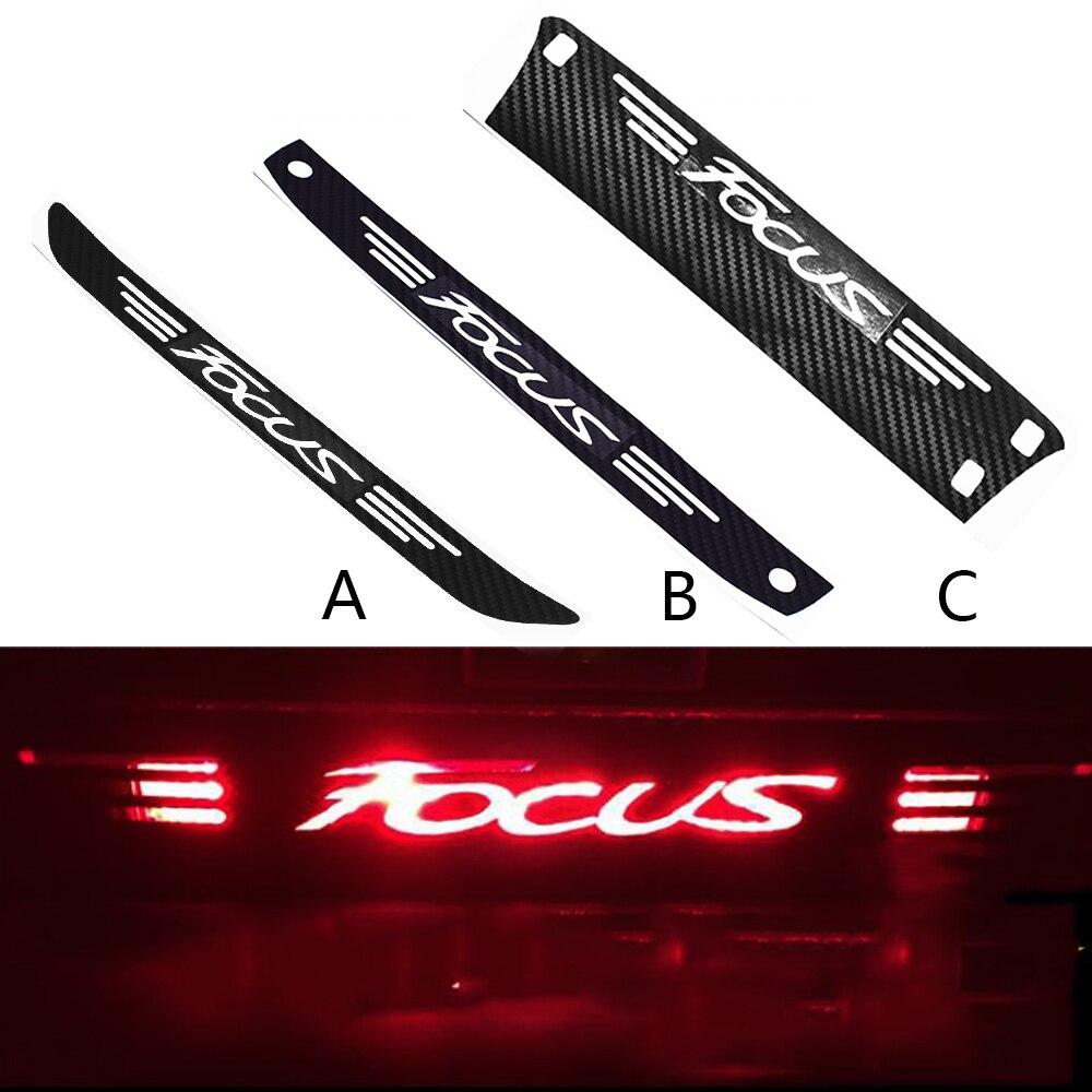 Traseira do carro alta luz de freio dedicado decalque adesivo de fibra de carbono logotipo adesivo para ford para foco mk2 mk3 2005-2018 carro-acessórios