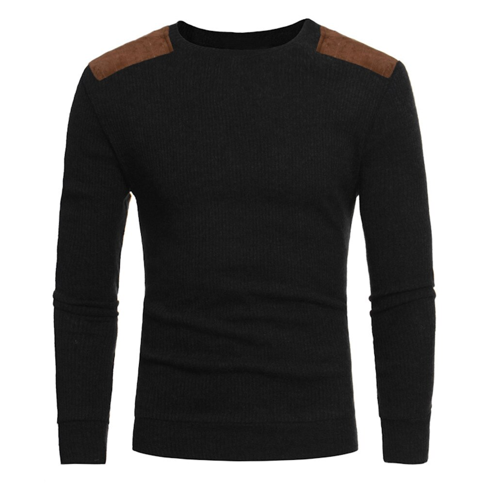 Мужской свитер, новый мужской модный свитер, брендовая одежда, Мужской пуловер, спортивный костюм с длинным рукавом, лоскутный свитер с круг...