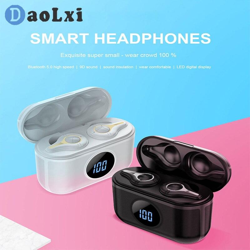 Auriculares inalámbricos con Bluetooth, auriculares inalámbricos con sonido de alta fidelidad para juegos, Auriculares deportivos con cancelación de ruido a prueba de agua para teléfonos inteligentes