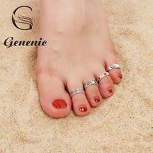 8 шт./компл. кольца для ног, новые кольца в стиле бохо с цветами, резным сердцем и открытым носком, комплект винтажных женских подарков, пляжны...