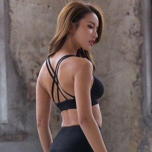 Women  Seamless Sports Bra black White Workout Sport Top Crop High Impact Fitness Wear For Yoga Gym Brassiere Sportswear