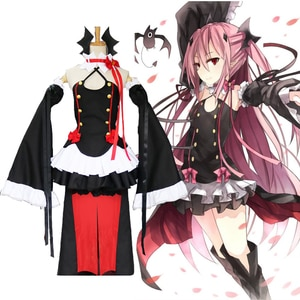 Anime Seraph Of The End cosplay costume Krul Tepes uniform Dress / Wig / headdress Owari no Seraph Costume Women's uniform