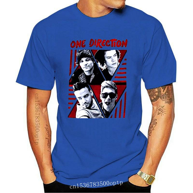 New One Direction Triangles Band Image Girl Juniors Black T Shirt Band Pop Music(1)