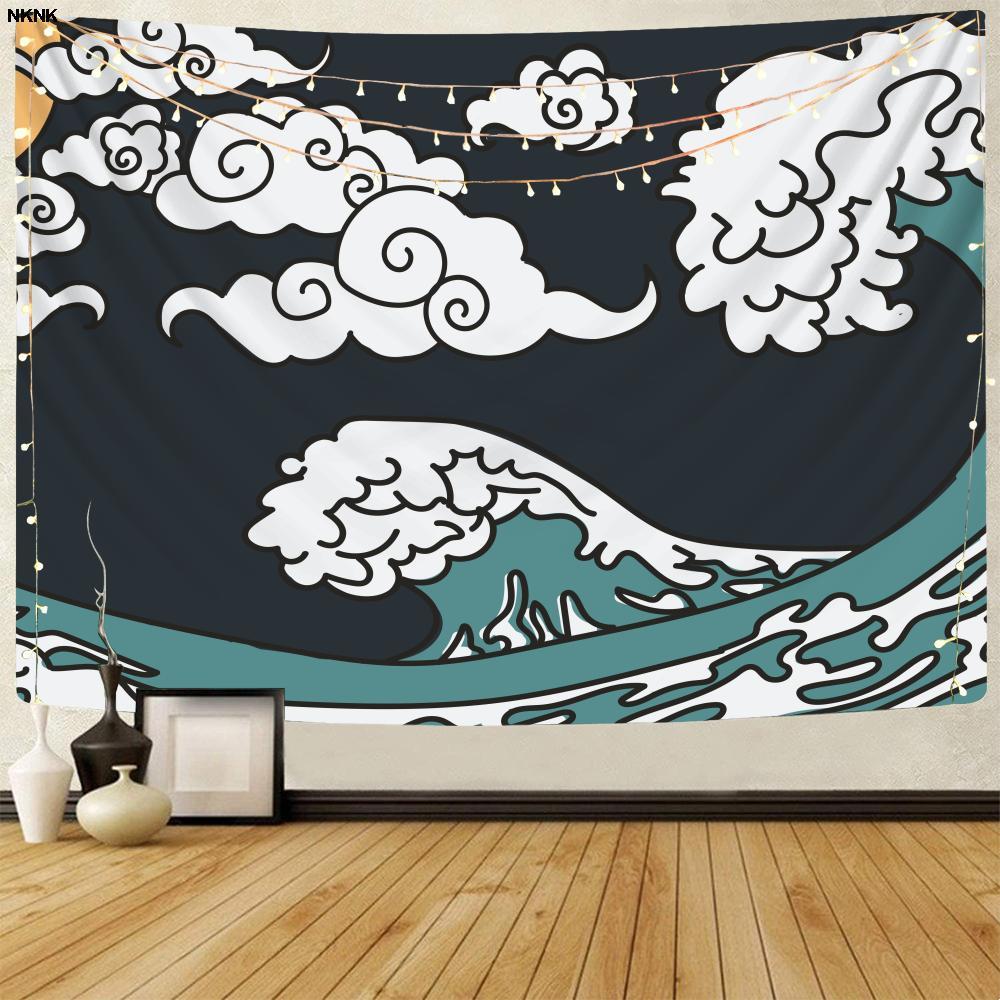 Брендовые волны NKNK, гобелены, пейзаж, домашние гобелены, креативные гобелены, Декор, богемный декор, ведро, Новинка