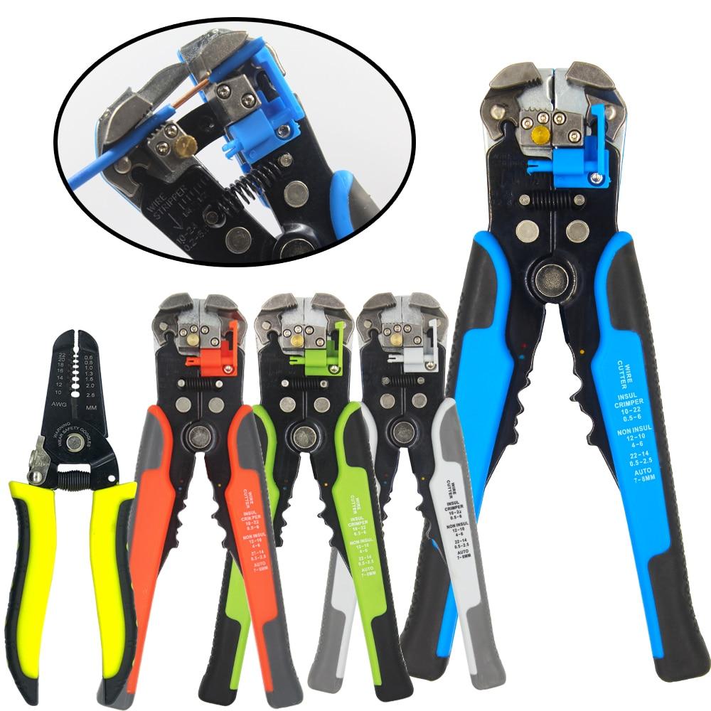 Pinza multifunzione per spelatura, utilizzata per il taglio di cavi, terminale a crimpare 0,2-6,0 mm, utensile manuale di marca automatico ad alta precisione