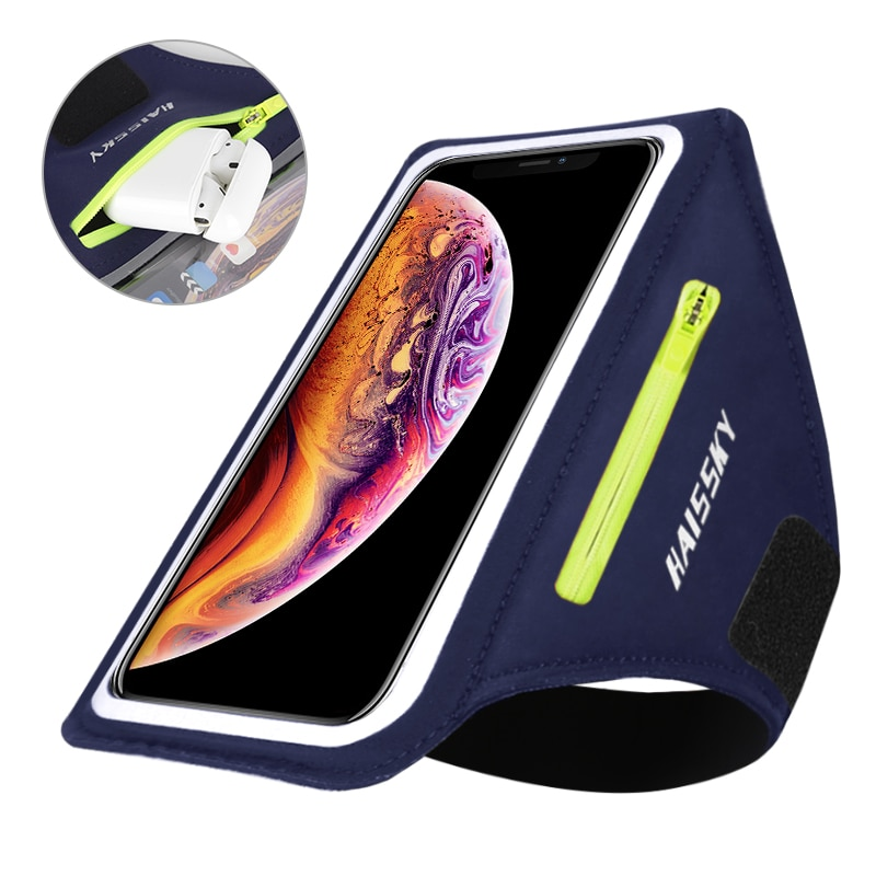 HAISSKY Running Sports Armbands Case iPhone 11 Pro Max 7 SE 2020 Xiaomi Nonslip Belt On Hand Phone A