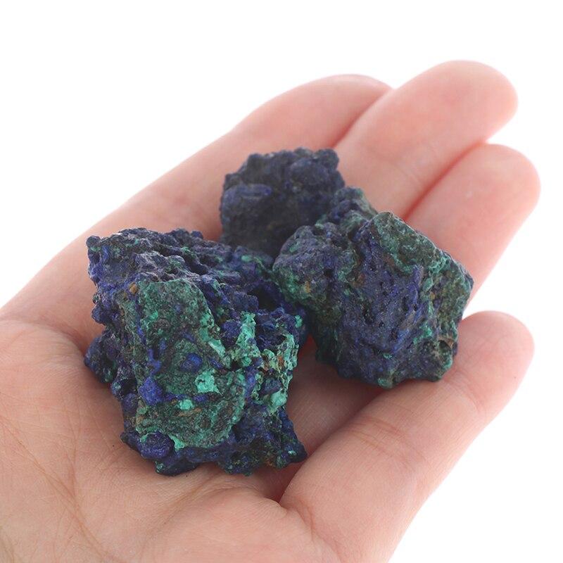 Naturalny azuryt malachitowy Geode kryształowy gatunek minerału Reiki kamień klejnot okaz