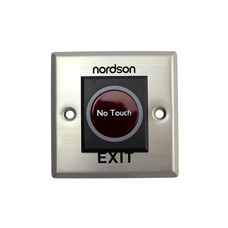 Nordson Sensor infrarrojo liberador de puerta botón de salida DC12V Acero inoxidable seguridad Touchless Emergencia para el sistema de Control de acceso
