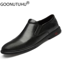 2021 style fashion mens shoes casual genuine leather male classics brown black slip on shoe man derby shoes for men size 36 47
