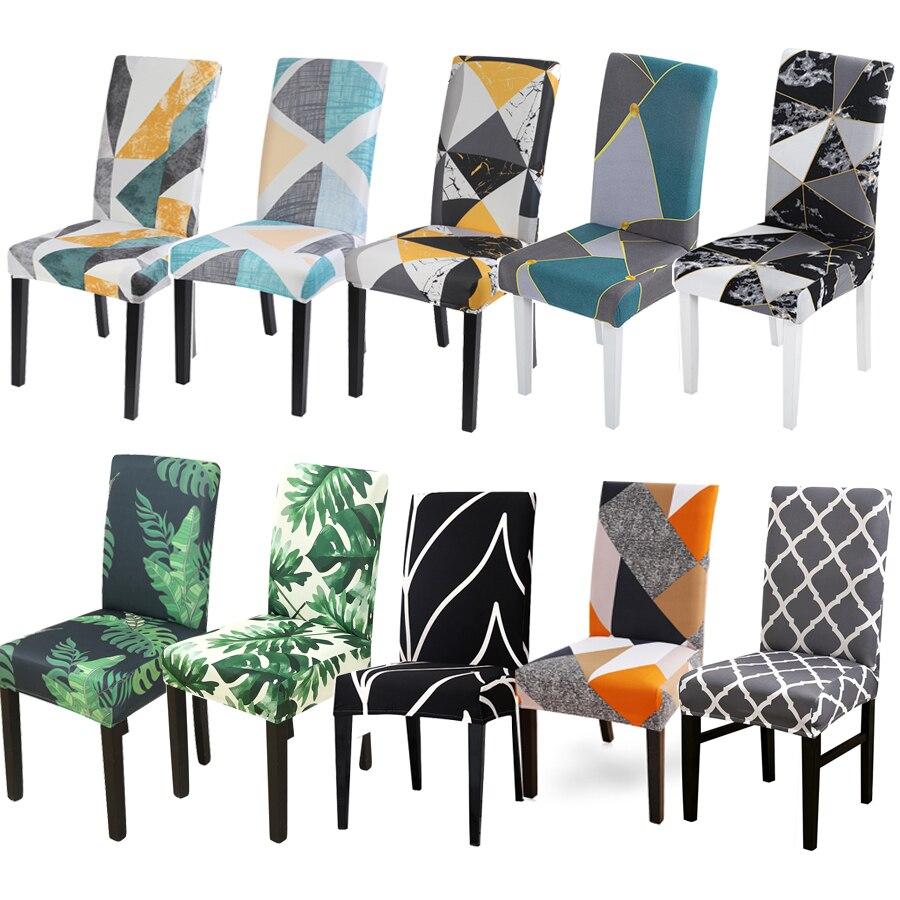 Patrón estampado Floral cubierta elástica para sillas fundas de asiento comedor extraíble...