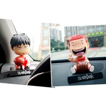 12-13cm 4 Arten Basierend Cartoon Slam Dunk Shohoku Basketball-Spieler Figur Spielzeug Hanamichi Rukawa Kaede Anime Auto dekoration Modell