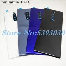 Новинка, оригинал для Sony Xperia 1 XZ4 J8110 J8170 J9110, стеклянная Задняя крышка батареи, задняя дверь, корпус, корпус, запасные части
