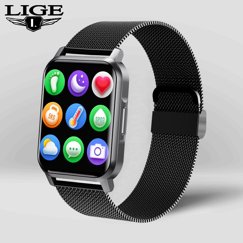 LIGE Digital Watch Women Sport Men Watches Electronic Ladies Wrist Watch For Android IOS Fitness Clo