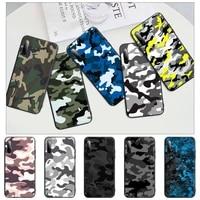 popolar camouflage pattern camo military black rubber mobile phone case cover for redmi note 6 8 9 pro max 9s 8t 7 5a 5 4 4x