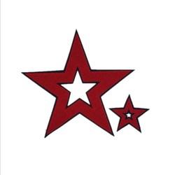 Toalha bordado cinco pontas estrela pano remendo moda vestuário decoração diy reparação subsídios acessórios