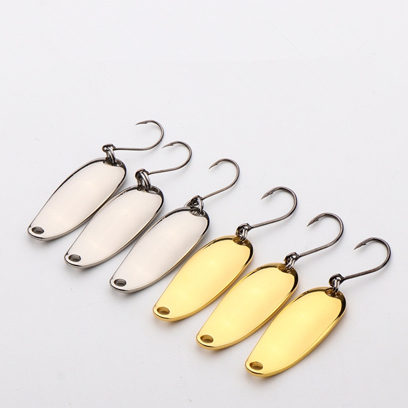 11pcs/box 1.8g/2.5g3.5g Metal Spoon Lures Spinners Lure Sequin Artificial Fishing Hard Bait Fishing Hooks Tackle Accessories enlarge