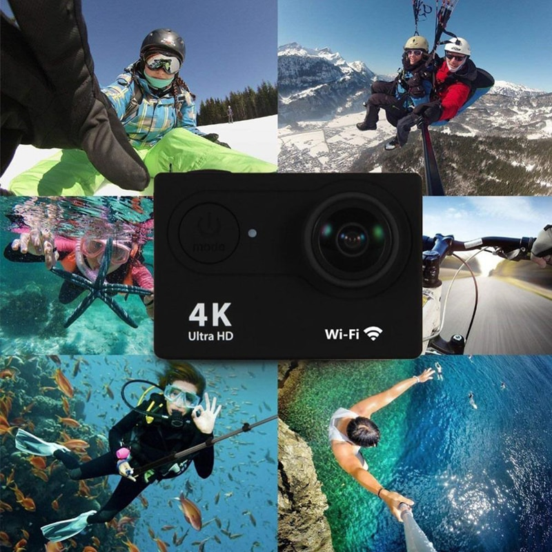 "Ultra HD 4K / 30fps Original H9 / H9R Action Camera WiFi 2.0"" 170D Underwater Waterproof Cam Helmet Vedio Sport pro outdoor Cam enlarge"