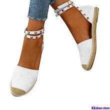 플러스 사이즈 35-43 리벳 페르시 여성 패션 수제 코튼 원단 Espadrilles 슬립 캐주얼 캔버스로 퍼스 숙녀 플랫 신발