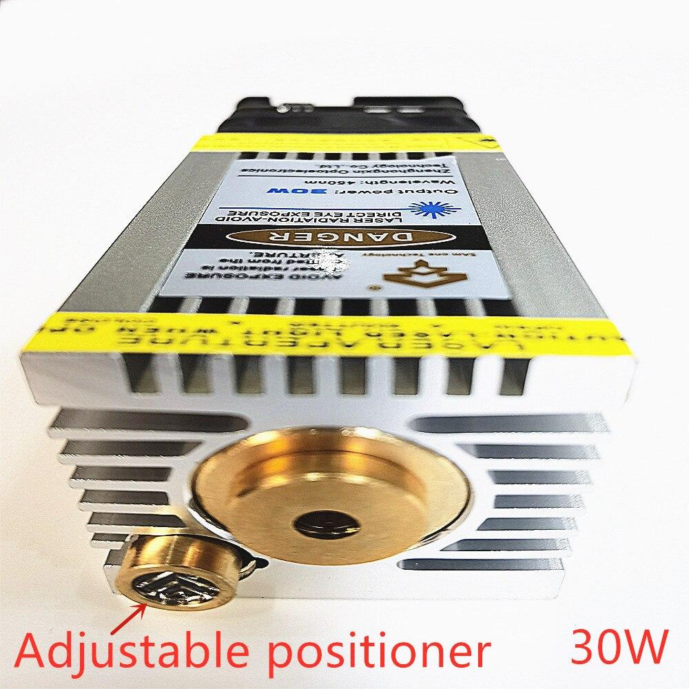 Синий лазерный модуль 30 Вт, лазерная головка, быстрая скорость гравировки, может использоваться для гравировки нержавеющей стали и окислен...