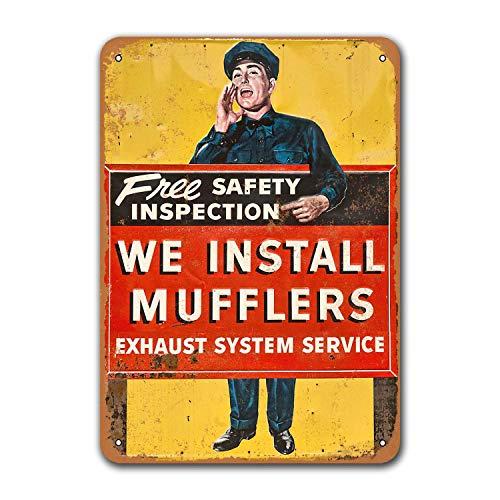 Жестяные знаки для ресторана, общежития, пещера Grage, Sgins, домашние металлические винтажные машины, мы устанавливаем глушители, постер для бар...