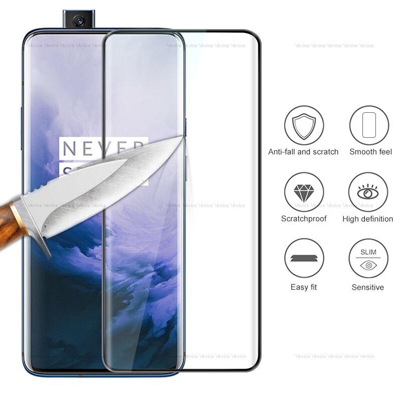 Cubierta completa de vidrio templado para Oneplus 7 Pro 6T 6 5T 5 3 3 T Protector de pantalla para oneplus 7 7Pro uno más 6 5 3 T protectora de vidrio