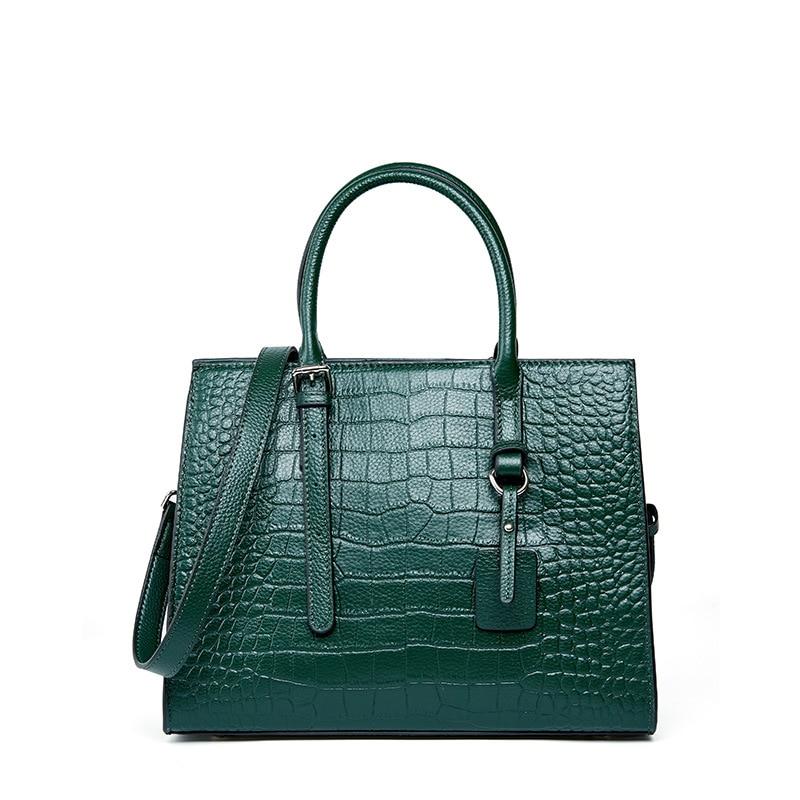 بقرة حقيقية حقائب يد جلدية 2021 سعة كبيرة حقائب نسائية مكتب العمل التسوق حقيبة الإناث أحمر أخضر أزرق 30*12*23