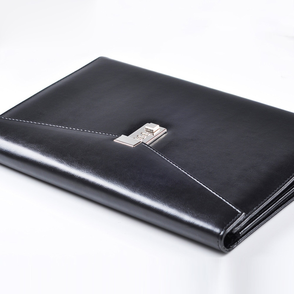 A4 folder, briefcase with lock and password, organizer, administrative cabinet, PU leather bag, manager's Office