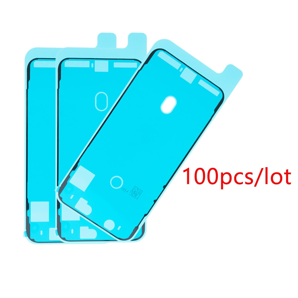 100 unids/lote pegatina adhesiva impermeable para IPhone X XS MAX XR 6 6s 7 8 plus LCD pantalla marco bisel sello cinta adhesiva 3M R