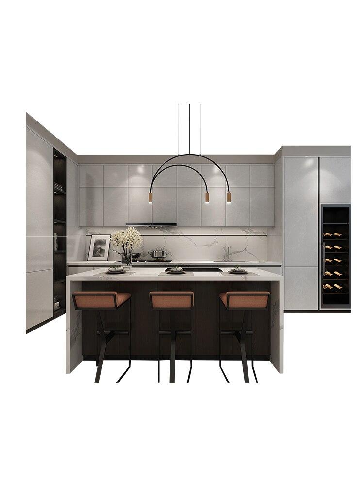 مخصص مفتوحة المطبخ الديكور مخصص عموما مجلس الوزراء خزائن المطبخ مسطح منضدة (كونترتوب) من الرخام
