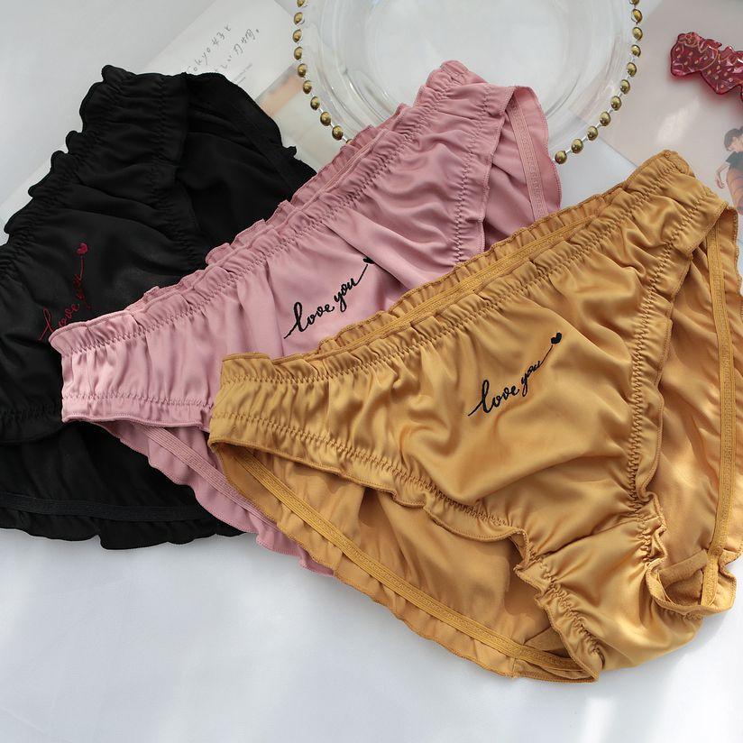 Новое Сексуальное нижнее белье, женские трусики, шелковые атласные трусы, ropa interior femenina string bielizna damski majtki damskie, женские трусики