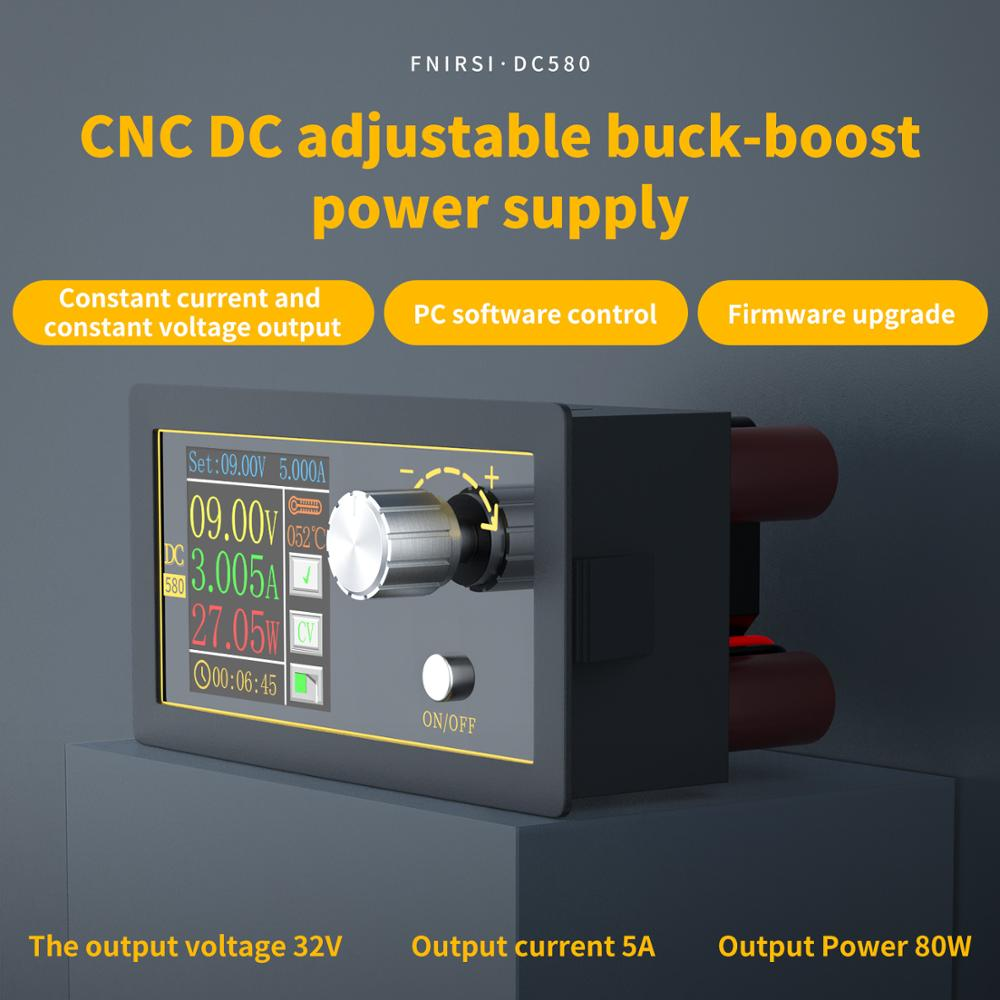 Dc Dc Buck Converter Cc Cv Power Module 1.8-32V 5A Verstelbare Gereglementeerde Voeding Voltmeter Amperemeter Cnc kleur Screen 80W