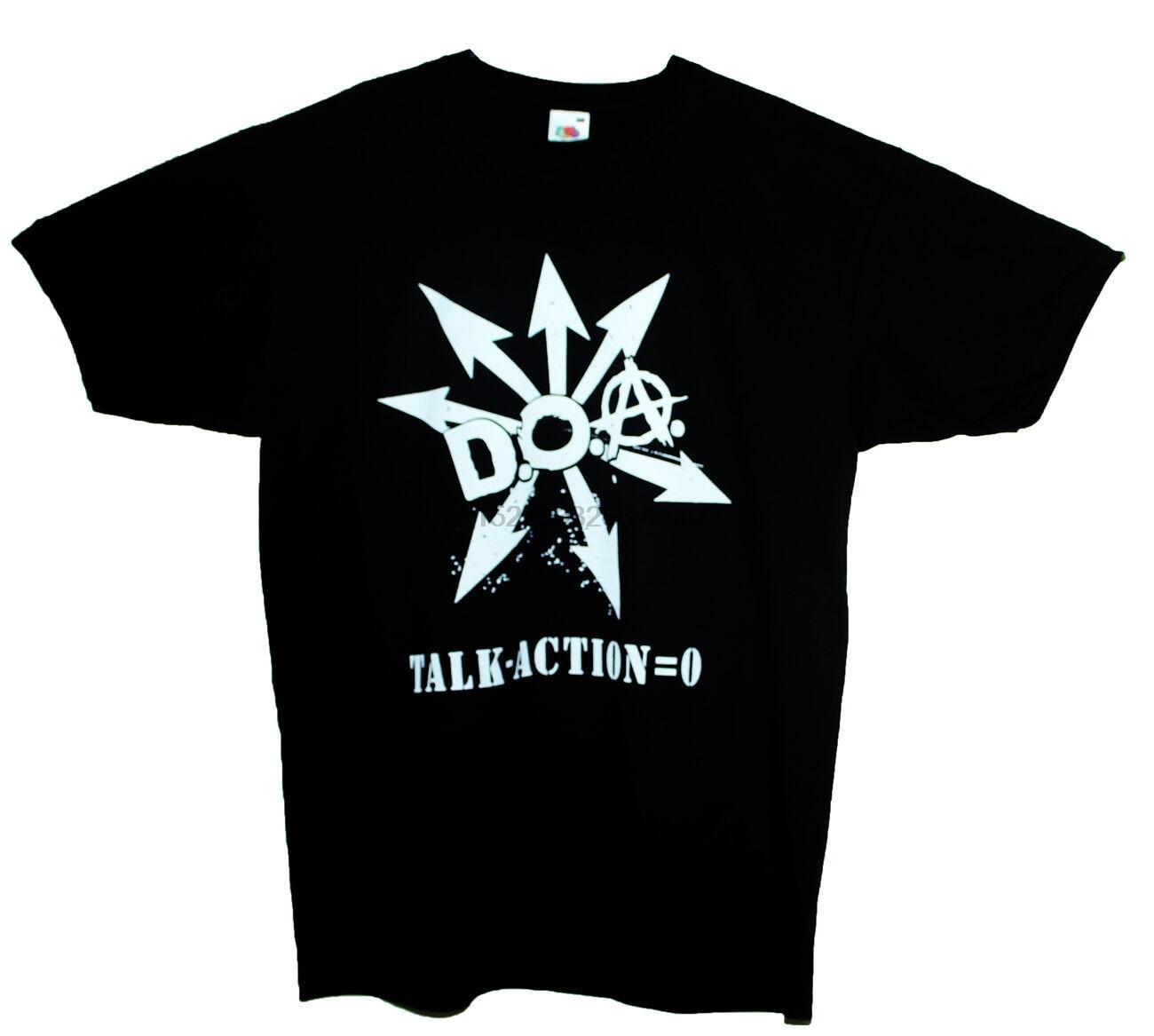 DOA Camiseta Anarcho Punk Rock germen Bandera Negra banda política gráfico Tee