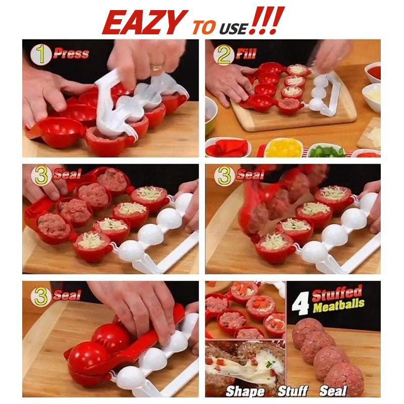 Kitchen Making Round Tool Convenient Kitchen Meatball Maker Meatball Clip Fish Ball Rice Ball Making Mold Tool Kitchen Accessori enlarge