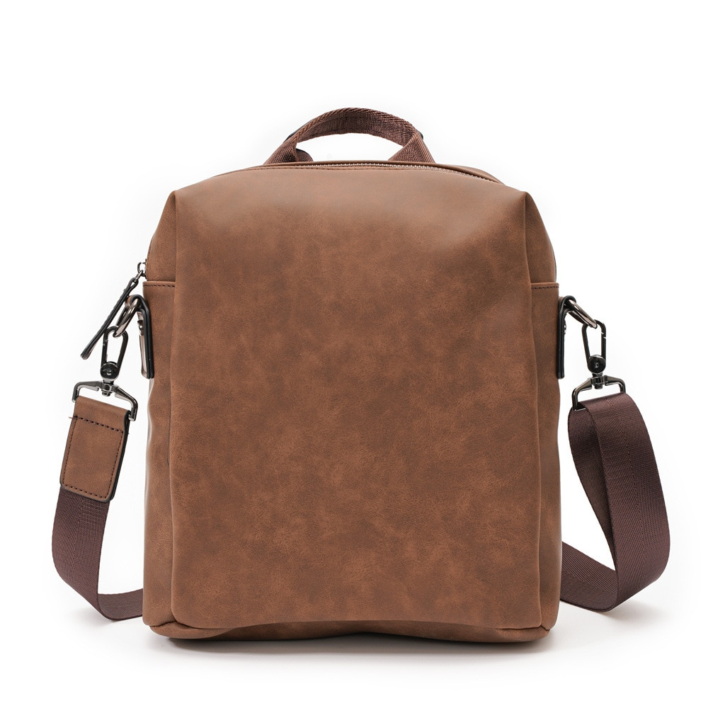 Vintage Men's Handbags Luxury Leather Briefcase Men Shoulder Bag Travel Crossbody Bags Man Messenger
