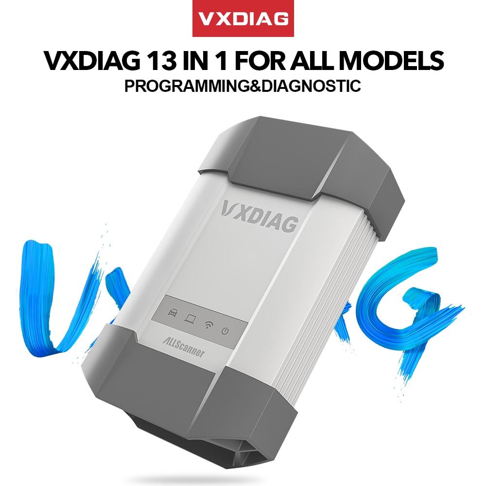VXDIAG ALLSCANNER 13 in 1 For all model For BMW For Ford IDS For Toyota TIS V15 C6 For Benz For GM/Opel GDS2 Diagnostic tool